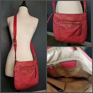 Coach Pink Leather Crossbody Bag